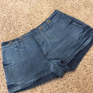Free People Denim fade shorts w/button front VGUC